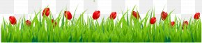 Grass With Red Tulips Clipart - Tulip Flower Stock Photography Clip Art PNG