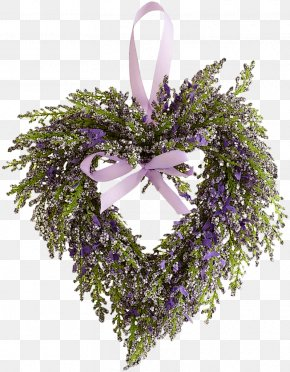 Flower - English Lavender Flower Heart Clip Art PNG