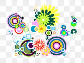 Colored Circles Pattern - Flower Euclidean Vector Clip Art PNG