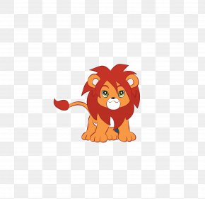Cute Little Lion - Lion Tiger Cartoon Clip Art PNG