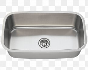 Sink - Kitchen Sink Stainless Steel Bowl PNG