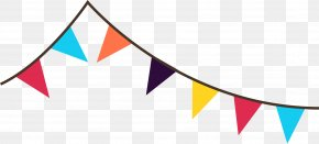 Pennant Banner Cliparts - Festival Clip Art PNG