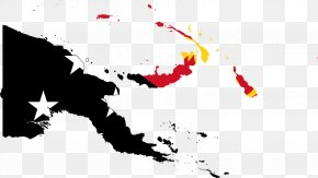 Papua New Guinea - Flag Of Papua New Guinea Vector Map PNG
