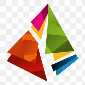 Colourful Triangles Number - Logo Prism Graphic Design PNG