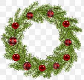 Deco Christmas Wreath Clip Art Image - Christmas Ornament Wreath PNG