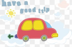 Vector Cute Car Travel. - Euclidean Vector Car Clip Art PNG