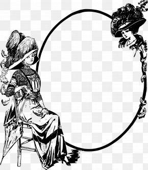 Blurred Black Circle - Black And White Line Art Clip Art PNG