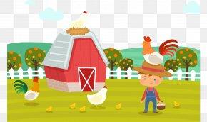 Cartoon Farm Chicken House - Hay Day Chicken PNG