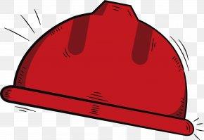 Red Hand-painted Helmet - Helmet Computer File PNG