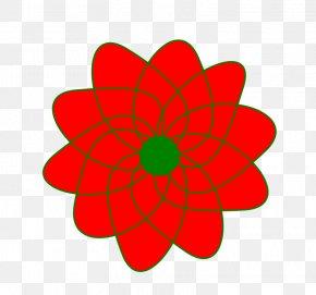 Christmasss Flower - Line Art Flower Petal Clip Art PNG