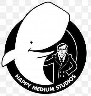 White Stroke - Black And White Line Art Logo Clip Art PNG