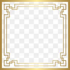 Border Deco Frame Gold Clip Art - Art Deco Clip Art PNG