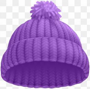 Purple Winter Hat Clip Art Image - Beanie Hat Stock Photography Cap Clip Art PNG