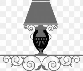Iron Lace Hand-painted Tables, Lamp - Lamp PNG