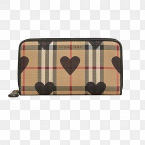 Burberry Check Pattern Full Zipper Wallet - Wallet Burberry HQ Zipper Handbag PNG
