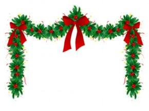 Christmas Clip Art - Garland Christmas Wreath Clip Art PNG