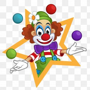The Clown In The Five-pointed Star - Clown Royalty-free Stock Photography Illustration PNG