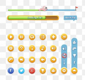 UI Button Online Game - Graphical User Interface Button Game PNG