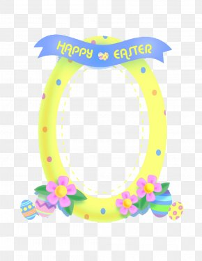 Easter Egg Decoration Picture Frame Style Easter Border Pattern - Picture Frame Easter Egg Pattern PNG