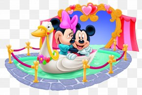 Mickey And Minnie Mouse Tunnel Of Love Clipart Image - Mickey Mouse Minnie Mouse Daisy Duck Goofy Donald Duck PNG