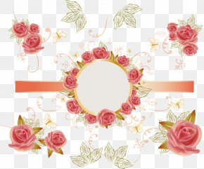 Vector Rose Card Packaging Sticker - Sticker Paper PNG
