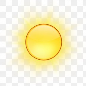 Sunlight Sphere - Yellow Background PNG