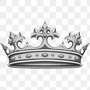 Tac - Black And White Crown PNG