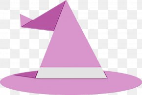 Witch Hat Magenta - Cone Violet Purple Pink Triangle PNG
