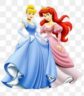Princess Ariel And Cinderella Clipart - Cinderella Ariel Princess Aurora Princess Jasmine Rapunzel PNG