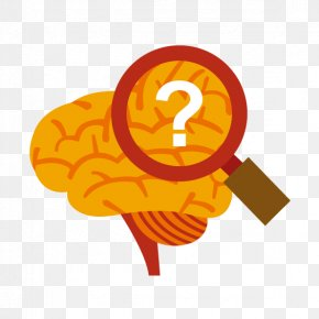 Looking Brain Vector - Brain Magnifying Glass Euclidean Vector Clip Art PNG
