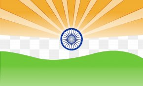 Sunlight Yellow - India Independence Day Green Background PNG