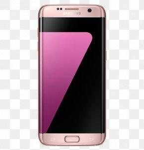 32 GBPink GoldUnlockedGSM 4G Samsung Galaxy S732 GBPink GoldAT&TGSM CameraSamsung - Samsung Galaxy S7 Edge PNG