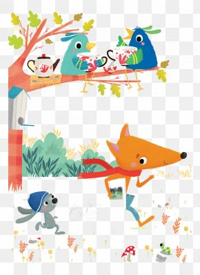 Help Small Fox Messenger - Fox Illustrator Illustration PNG