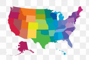 Vector Color Map - United States Vector Map World Map PNG