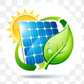 Solar Photovoltaics Cartoon Vector - Solar Power Solar Panels Renewable Energy Solar Energy PNG