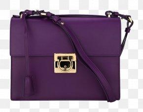Ms. Ferragamo Shoulder Messenger Bag - Handbag Leather Purple Shoulder PNG