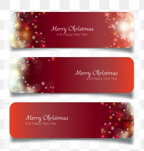 Vector Christmas Banners - Web Banner New Year Christmas PNG