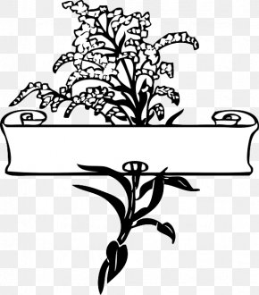Flower - Borders And Frames Flower Drawing Clip Art PNG
