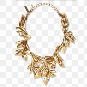 Gold Necklace Chain - Necklace Gold Jewellery Fashion Dress PNG