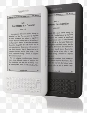 Amazon Electronic Paper Book - Kindle Fire Barnes & Noble Nook Amazon.com E-book E-reader PNG