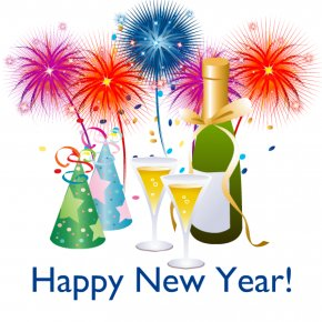 Happy New Year - New Year's Day Animation New Year's Eve Clip Art PNG