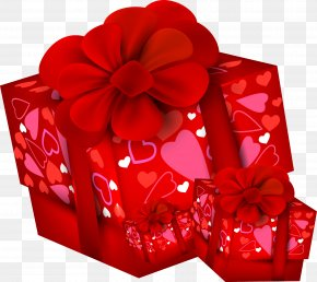 Gift - Paper Valentine's Day Gift Clip Art PNG
