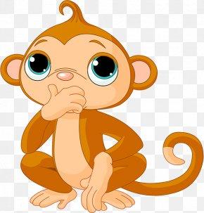 Cute Cartoon Monkey - Chimpanzee Monkey Cartoon Clip Art PNG
