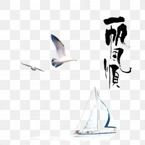 Smooth Sailing - Calligraphy Art Ink Brush PNG