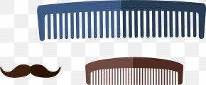 Brown Beard Comb Vector Elements - Comb Euclidean Vector Beard PNG