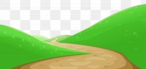 Valley With Pathway Clipart - Green Design Graphics Wallpaper PNG