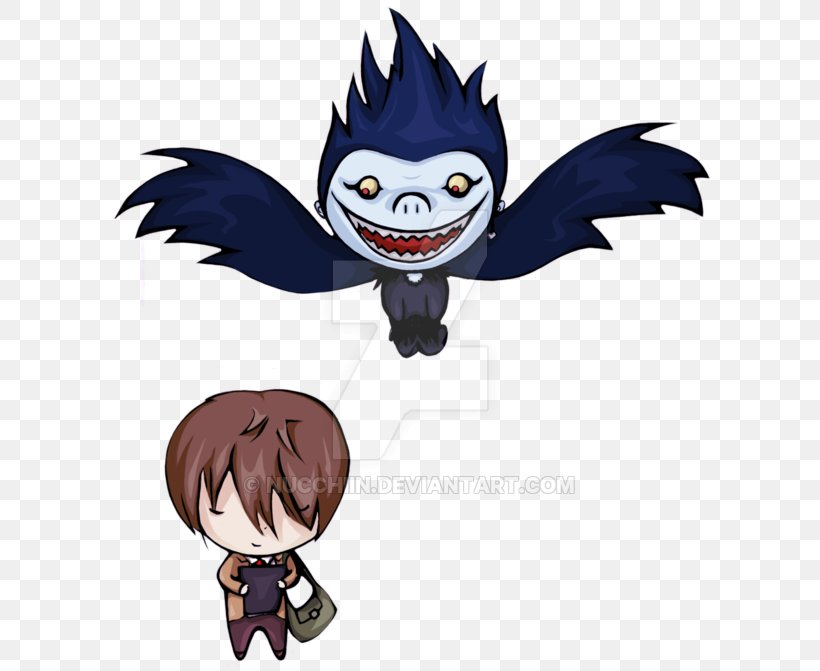 Ryuk Light Yagami Deviantart Death Note Png 600x671px