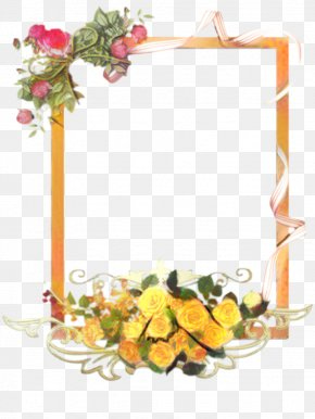 Picture Frame Interior Design - Watercolor Flowers Frame PNG