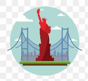 Vector Statue Of Liberty - Statue Of Liberty Manhattan Jigsaw Puzzle PNG