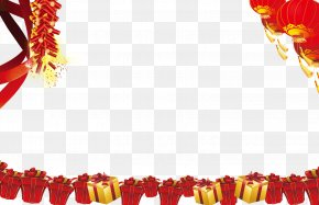 Chinese New Year Decorative Elements - Chinese New Year Gift Firecracker PNG